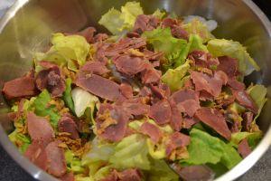 Recette Salade aux gésiers et oignons frits
