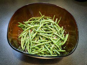 Recette Salade toute simple et un saladier – Salade de haricots verts frais