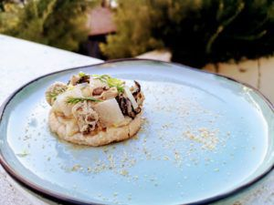 Recette Ceviche de sole et d'huîtres sur son coussin à la châtaigne