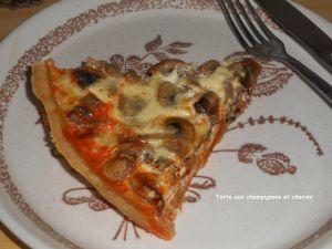 Recette Tarte aux champignons et chorizo