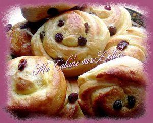 Recette Pains aux raisins ou pains russes
