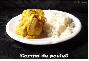 Recette Cuisine indienne : Korma de poulet