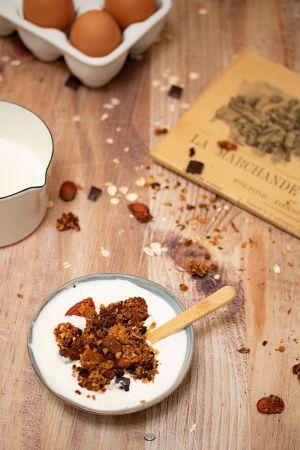 Recette Granola chocolat amandes