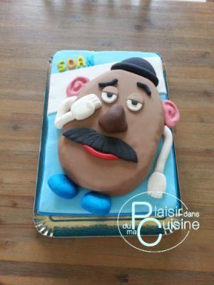 Recette Gâteau Mr Patate, en pâte à sucre