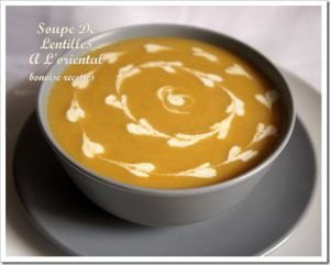 Recette Soupe de lentilles ????? ???