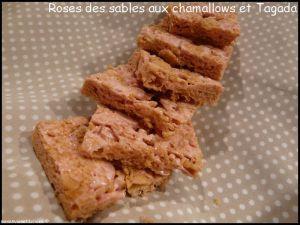 Recette Roses des sables chamallow et Tagada