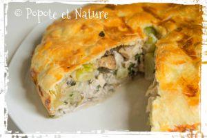 Recette Cuisine des restes : craquez pour une tourte croustillante au poulet, pâtes et courgettes