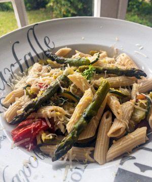Recette Pâtes aux asperges et courgettes de Gennaro Contaldo