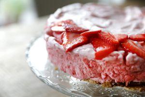 Recette Gâteau glacé aux fraises
