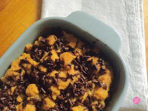 Recette Crumble pommes et chocolat