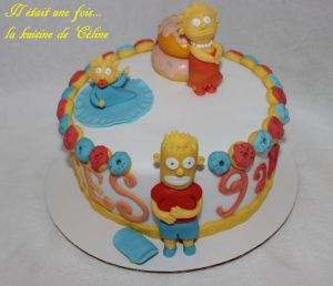 Recette Gateau Simpsons 3d { gateau en pâte à sucre }