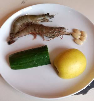 Recette Salade fraîche de gambas (Naengchae)