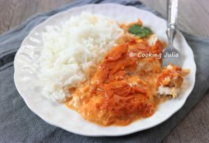 Recette Filets de limande, sauce crémeuse à la tomate