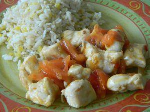 Recette Tour en cuisine : poulet sauté sauce chili