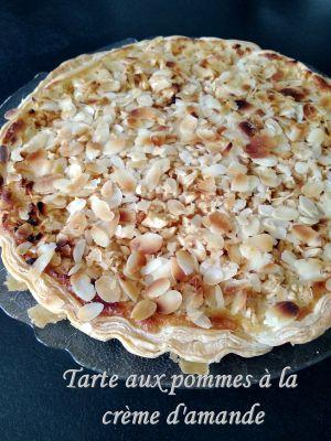 Recette Tarte aux pommes à la crème d'amandes