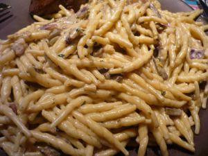 Recette Pâtes sauce aux cèpes et à la truffe