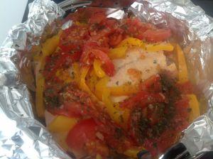 Recette Papillote de saumon au Cookeo