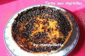 Recette Tarte aux myrtilles et pâte à tarte express
