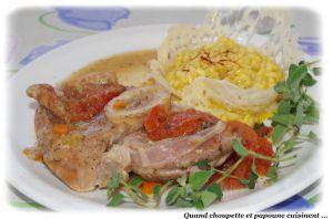 Recette Osso-buco a la milanaise et son risotto au safran