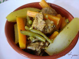 Recette Tajine de mouton aux légumes