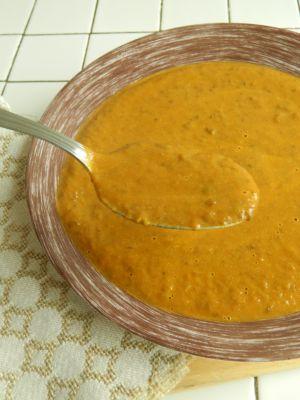 Recette {Soupe} Soupe poivrons & lentilles