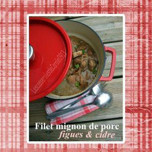 Recette Filet mignon de porc aux figues & cidre