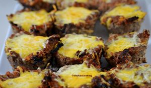 Recette Pains de viande aux fromages, cuits comme des muffins