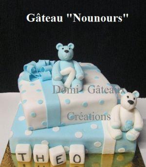 """Recette Gâteau """"Nounours"""" en Pâte à Sucre"""