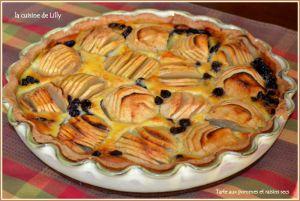 Recette Tarte aux pommes et raisins secs