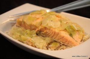 Recette Saumon et poireaux au safran [ Cookeo ]