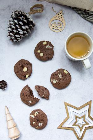 Recette Cookies au cacao et noix de macadamia