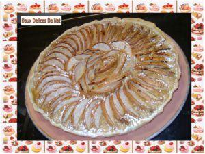Recette Tarte amandine aux poires nashi :