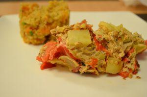 Recette Frittata poivrons&coeur d'artichaut - Artichoke&red pepper frittata