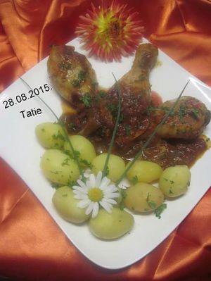 Recette Pillons de poulet cuisinés en sauce tomates