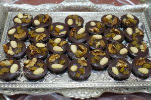 Recette Mendiants au chocolat noir et sirop d'agrumes