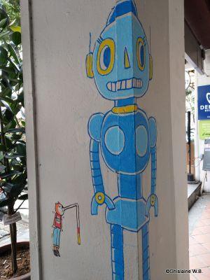 Recette Street art à Singapour