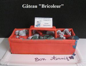 """Recette Gâteau """"Bricoleur"""" (du Dimanche) en pâte à Sucre"""