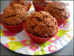 Recette Muffins dattes & son