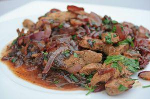 Recette Foie de veau et fondue d'oignons rouges