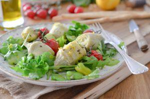 Recette Salade d'artichauts aux fèves et au citron