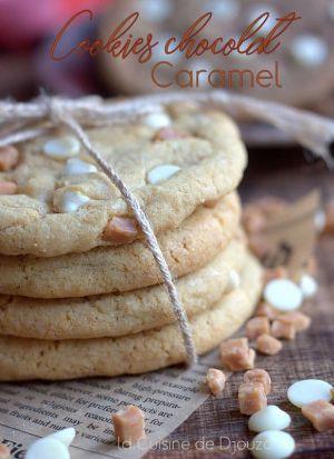 Recette Cookies au chocolat et caramel