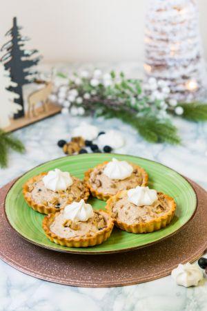 Recette Noël végétarien : Tartelettes Mont-Blanc (crème de marrons, myrtilles…)