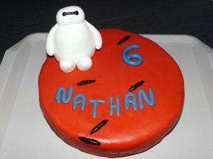 Recette Gâteau en pâte à sucre Baymax pour Nathan