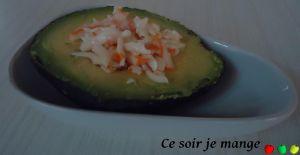 Recette Avocat au surimi