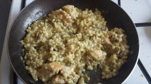 Recette Pâte poulet haricot vert au curcuma
