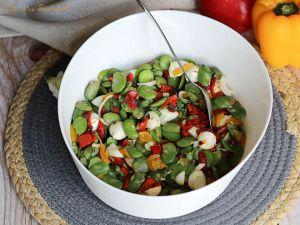 Recette Salade de fèves aux poivrons grillés