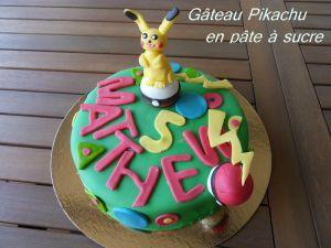 Recette Gâteau pikachu en pâte a sucre