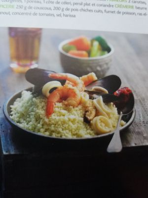 Recette Couscous aux fruits de mer