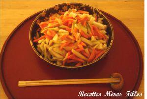 Recette Salade Estivale : Salade de légumes vinaigrés aux 3 couleurs