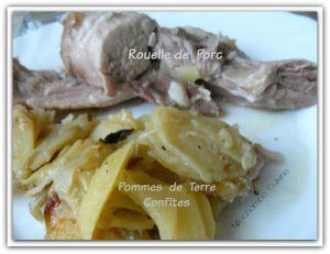 Recette Rouelle de porc aux pommes de terre confites